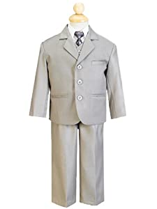 5-piece Light Gray Boy's Dress Suit