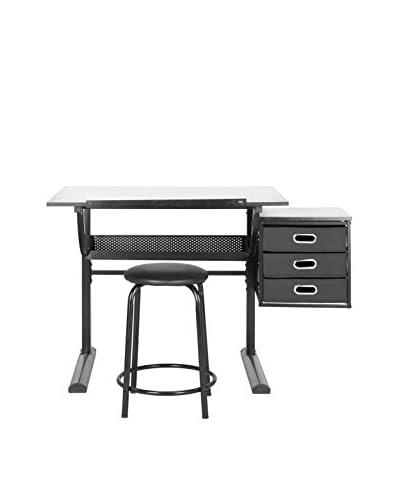 Safavieh Harvard Writing Desk, Black/White