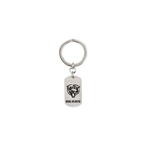 24569 St Steel 35mm Chicago Bears NFL Football Team Jewelry Men Keychain