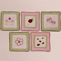 Kids Line Wall Hanging - 5 Pc. - Lady Bug - 1