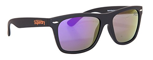 Superdry -  Occhiali da sole  - Uomo Nero  Rubberized Black and Purple