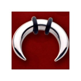 One Stainless Steel Crescent: 2g, 5/8