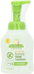 BabyGanics Alchohol Free Foaming Hand Sanitizer, Fragrance Free, 250ml (8.45-Ounce) Bottles (Pack of 2), Packaging May Vary