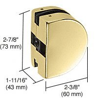 PTH26BR - CRL Brass PTH Series Glass Mounted Patch Lock Keeper