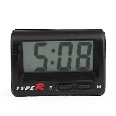 Commoon Lcd Digital Car Dashboard Desk Clock - Black
