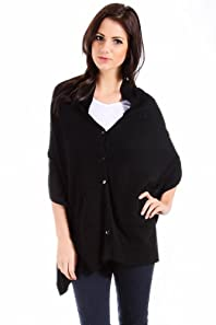Mystree Halter Cardigan Vest in Black