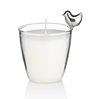 Sitting Bird Filled Candle