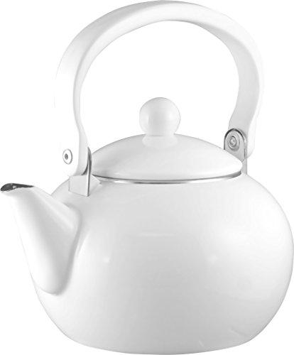 Calypso Basics 2-Quart Enamel-on-Steel Teakettle, White (Tea Kettle Calypso compare prices)