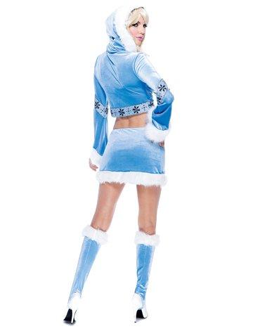 Paper Magic Womens French Kiss Eskimo Costume, Blue/White, Medium