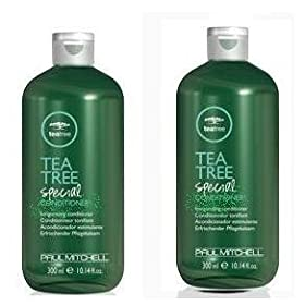 Paul Mitchell Tea Tree Special Shampoo & Conditioner products offer a pleasant tingling sensation for your scalp and a lingering minty fresh scent.