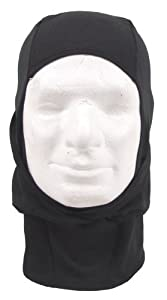 Single Lightweight 1 Hole Balaclava Spandex Airsoft Paintball Security Police Black from MFH