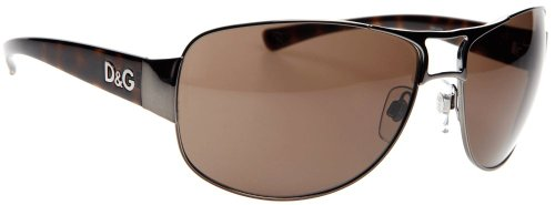 D&G-DD6056-090/73 GUNMETAL WITH BROWN LENSES MENS SUNGLASSES - 64mm
