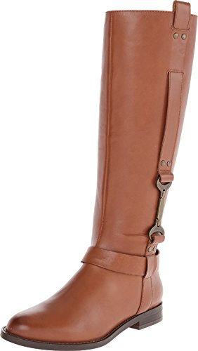 Nine West Women'S Avonna Riding Boot,Dark Natural,8 M Us