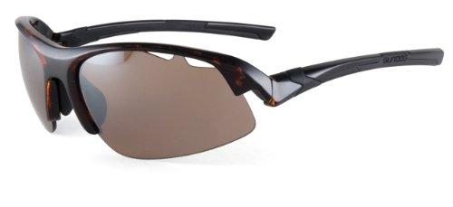 Sundog Attack Golf Sunglass (Brown Demi Frame/Brown Flash Mirror Lens)