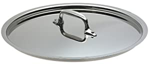 All-Clad 3910 Stainless Steel Tri-Ply Bonded Dishwasher Safe Lid Cookware, 10.5-Inch, Silver