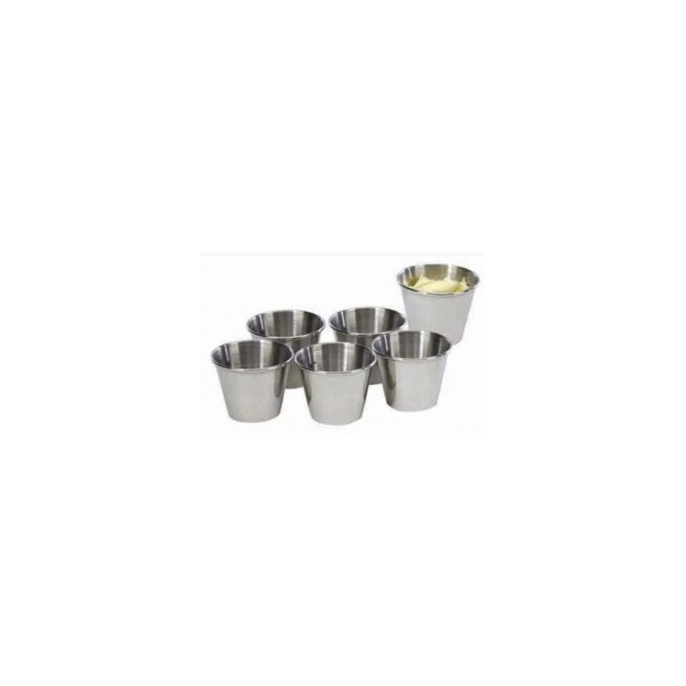 Cook Pro PRO353 Mirror Polished Stainless Steel Sauce Cups, Set of 6
