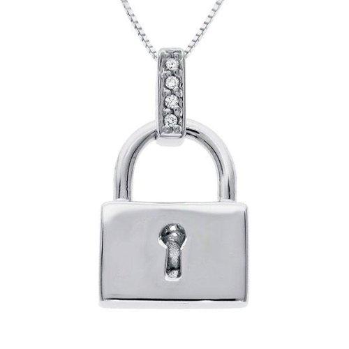 Diamond Purity Pocketbook Lock Pendant