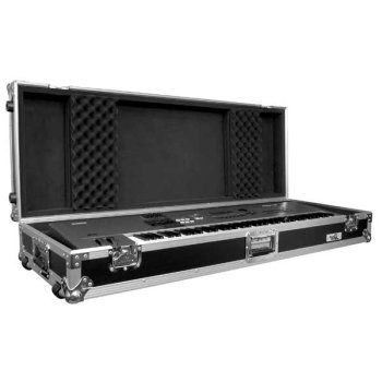 Road Ready Rrkb76W 76-Key Board Case With Adjustable Z-Lock Foam