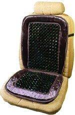 Image of Ortho Beads Velour Beaded Seat Cushion - Beige