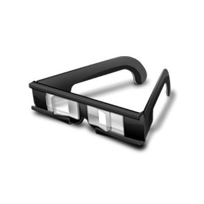 "3-D TV Stereo Prism Glasses - FREE SHIPPING when purchased with ""3Dphotoscope"" - Glasses work with ANY screen! Watch over 10,000 3D YouTube videos! - Hands Free Stereoscope (Current 3D Cameras: Fuji W1 & W3, Aiptek 3D-HD, Nintendo 3DS, Sony DSC-WX5, DSC-TX9 & Bloggie 3D, Viewsonic 3DV5 & 3DSC5, Optimus 3D, DGX 5D7V, DGX-018...)"