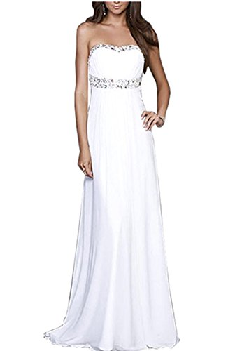 Women Strapless Beading Evening Party Formal Gowns Long Prom Dress long criss cross open back formal party dress