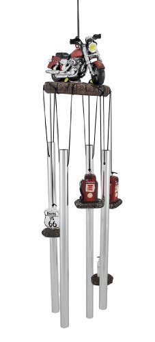 'Get Your Kicks' Red Motorcycle Wind Chimes Windchimes