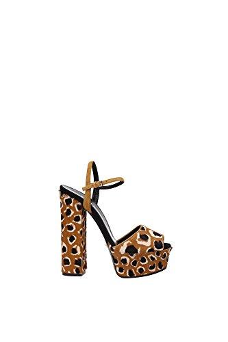 Sandali Gucci Donna Cavallino Tabacco 355391CMS302759 Marrone 36EU