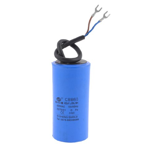 Cbb60 ac 450v 40uf air compressor electrolytic capacitor for Electric motor capacitor replacement