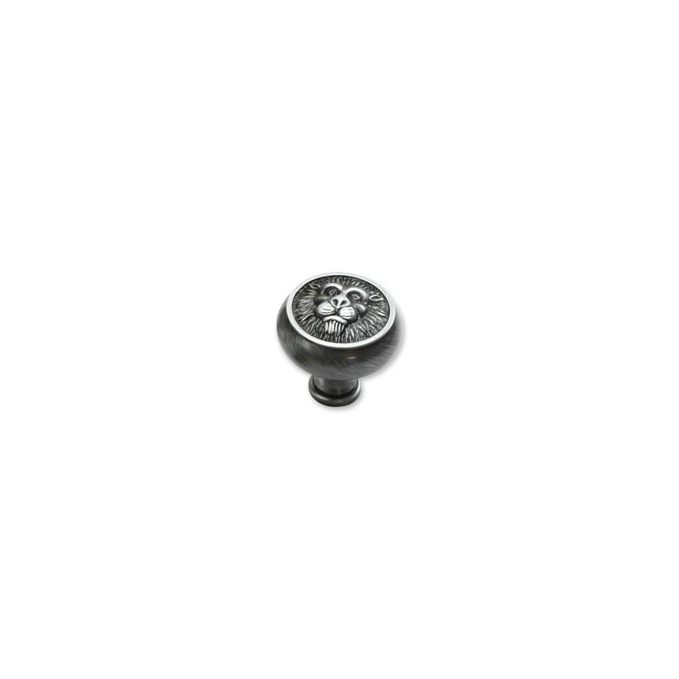 Schaub & Company   Lion Head Knob Antique Pewter 1.5 Inches(Sch760 15A)