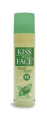 Kiss My Face Organic Lip Balm, TreatMint SPF 15, .15 oz
