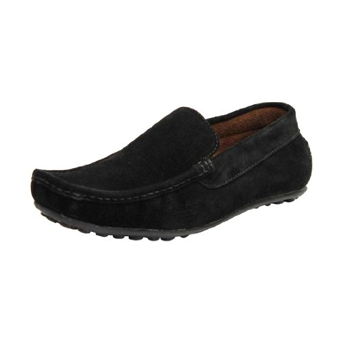 Kewl Instyle Men Black Leather Casual Shoes Loafers