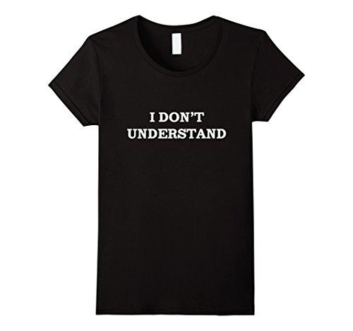 I Don't Understand - I Still Don't Understand Sherlock Shirt - Female Small - Black