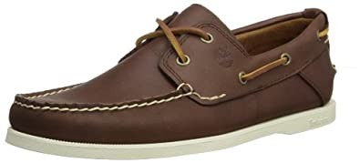 Timberland Men's Heritage 2 Eye Boat Shoe,Brown,8 M US