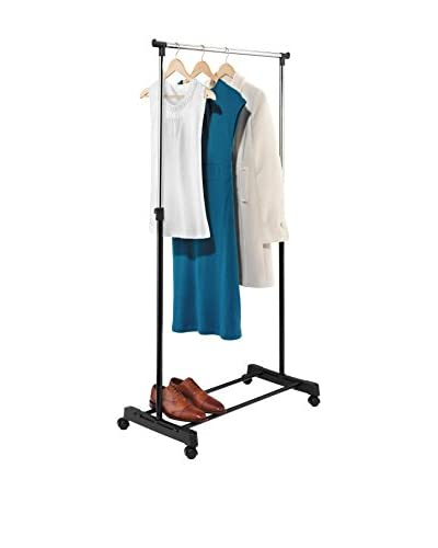 Honey-Can-Do Adjustable Height Garment Rack, Chrome/Black