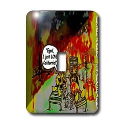 Londons Times Funny Music Cartoons - HOT Vacations In California - Light Switch Covers - single toggle switch