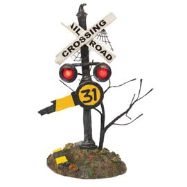 Department 56 Haunted Rails Crossng Sign