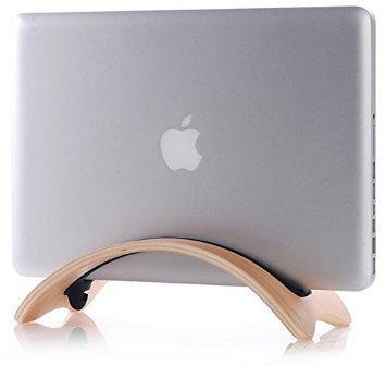 【E-STAR】 MacBook Air 用 木製スタンド (ナチュラル ウ...