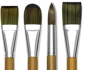 Isabey Isacryl Round Brushes - Long Handle, 38 mm, Round, Size 10, 10 mm, 6512