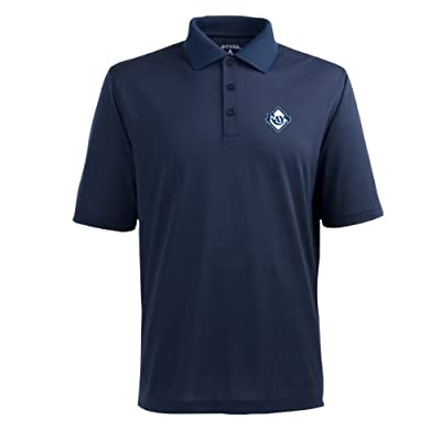 MLB Men's Tampa Bay Rays Pique Xtra Lite Desert Dry Polo