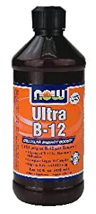 NOW Foods - Ultra B-12 Liquid Cellular Energy Boost 5000 mcg. - 16 oz. ( Multi-Pack)
