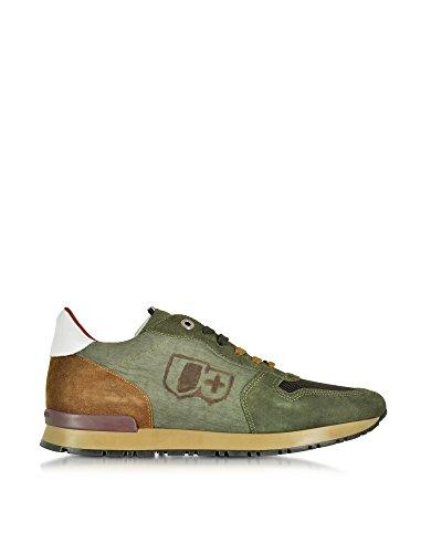 D'Acquasparta, Sneaker uomo verde verde IT - Marke Größe, verde (verde), 40 IT - Marke Größe 40