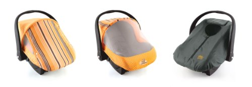 Cozy Combo Pack - Orange Sun & Bug Cover & Lightweight Cozy Cover front-79943