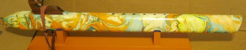 Native American Flute - Very Deep Sound - Low A# - 28 Inches Long - Swirl Painted