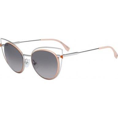 Fendi 010EU Palladium 0176/S Cats Eyes Sunglasses Lens Category 2