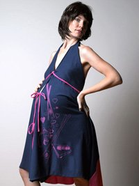 I Dream of Sushi Labor Maternity Gown