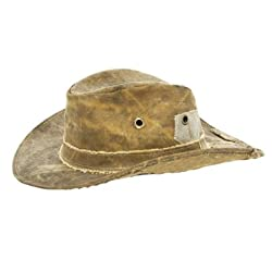 The Real Deal Brazil Recycled Tarp Original Bendable Adventure Hat (Brown, XXL)