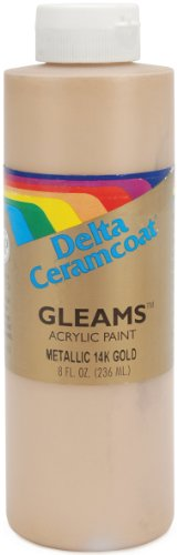Ceramcoat Gleams Acrylic Paint-8oz/14K Gold