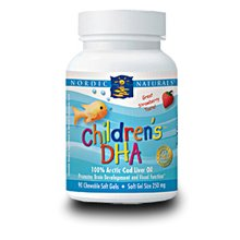 Nordic Naturals, Children's DHA, Strawberry, 250 mg, Chewable Soft Gels