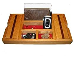 Cherry Wood Dresser Valet for Men
