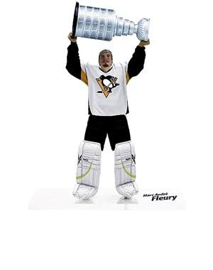 McFarlane Toys NHL Sports Picks Series 23 2009 Wave 3 Action Figure MarcAndre Fleury (Pittsburgh Penguins)